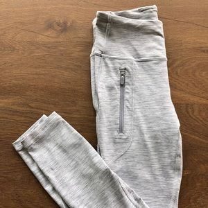 Lululemon White/grey leggings very gently worn